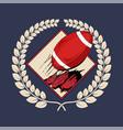 american football logo label badge vector image