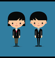 Business man and woman characters vector image