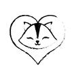cat clossed eyes love sketch vector image