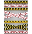 Danger construction tapes vector image