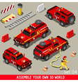 First Aid Vehicle Isometric vector image