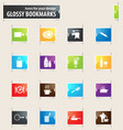 food and kitchen bookmark icons vector image
