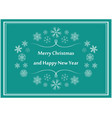 green greeting postcard for christmas - flyers vector image