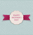 Happy Mothers Day greeting Banner Template vector image