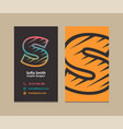 letter s logo business card vector image