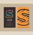 letter s logo business card vector image
