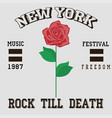 rock till death vector image