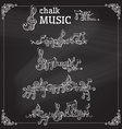 set of chalk music page decorations vector image