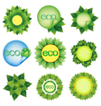 Set of elements for Eco design vector image
