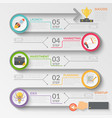 startup development stages flowchart vector image