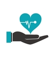 shelter hand health icon vector image