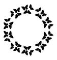 Butterflies frame Circular pattern border vector image