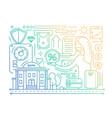 bank services - line design composition - color vector image