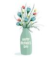 Spring Flowers in Bottle vector image