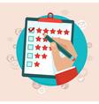 feedback survey vector image