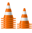 Piles of traffic cones vector image vector image