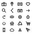 set icons vector image