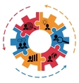 Concept for project management with gear vector image