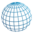 globe meridians vector image vector image