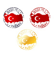 made in Turkey stamp vector image