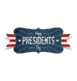Happy Presidents Day retro striped blue Banner vector image