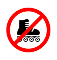 No roller Prohibiting sign vector image