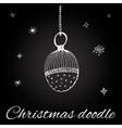 Christmas toy in doodle style vector image