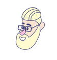 avatar man face with hairstyle design vector image
