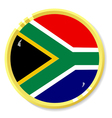 button with flag South Africa vector image