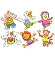 Cute cartoon happy animal vector image