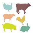 Isolated farm animals vector image