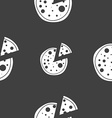 Pizza Icon Seamless pattern on a gray background vector image