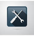 Repair Icon Screwdriver and Spanner Wrench vector image