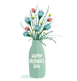 Spring Flowers in Bottle vector image