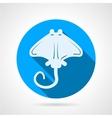Stingray flat round icon vector image