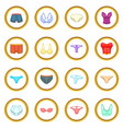 underwear icons circle vector image
