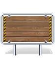 Wooden Industrial Billboard vector image