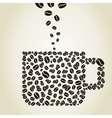 Cup from coffee grains vector image