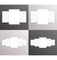 Flyer Paper Ladder Mock Up Set Realistic Text vector image vector image
