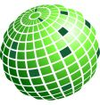 wire frame globe vector image vector image