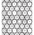 doodle round seamless vector image vector image