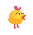 cartoon cute yellow chick vector image