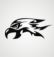 Tribal Eagle Head vector image