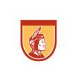 Native American Indian Chief Shield Retro vector image vector image
