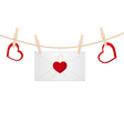 hearts clothespins 11 vector image