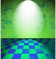 Green grunge room vector image