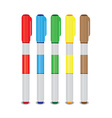 Markers of different colors vector image vector image