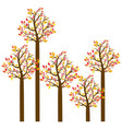 colorful autumn tree set collection vector image