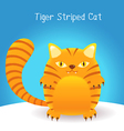 cute tiger stripes cat vector image