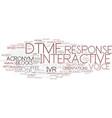Dtmf word cloud concept vector image